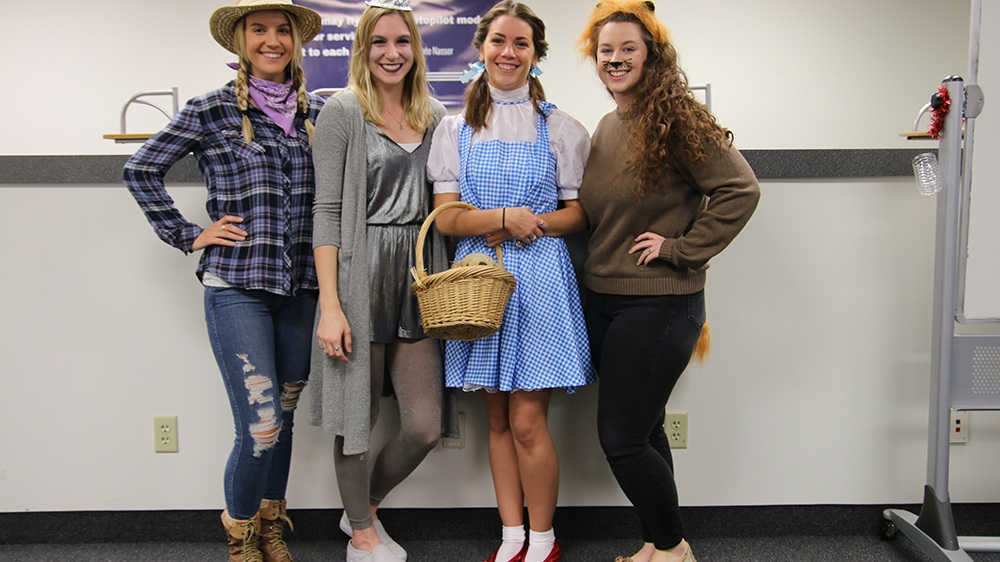 Employees at Halloween Costume Contest