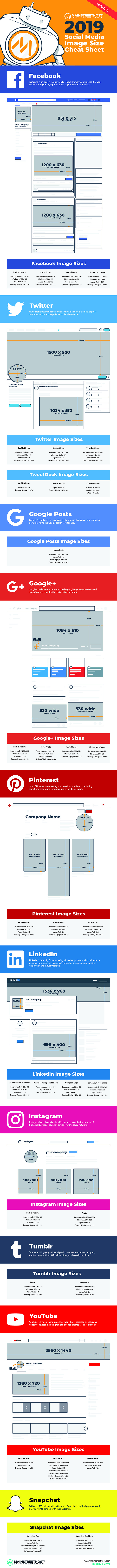 2019 Social Media Image Dimensions [Cheat Sheet]