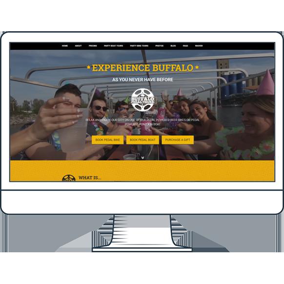Buffalo Pedal Tours Website