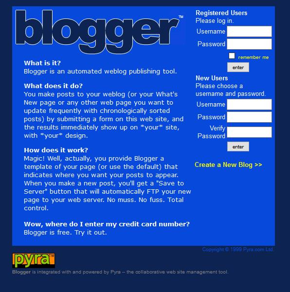 blogger.com (1999)