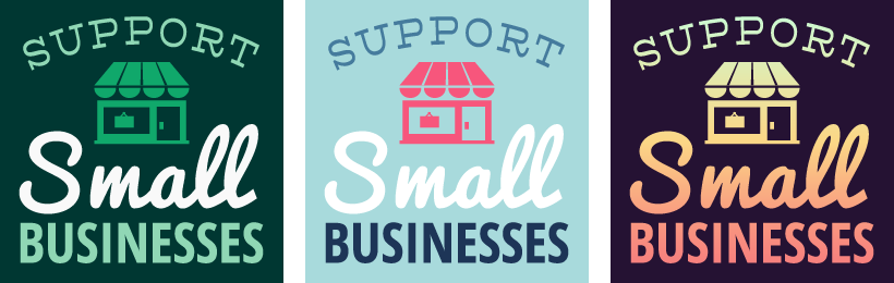 Free Support Small Businesses Social Media Graphics