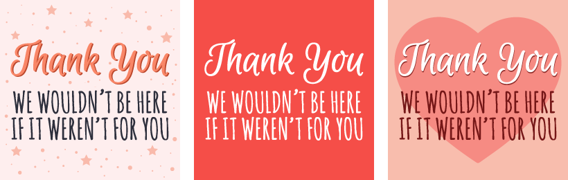 Free Thank You! Social Media Graphics