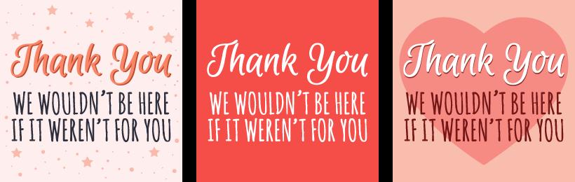 Free Thank You! Social Media Graphics